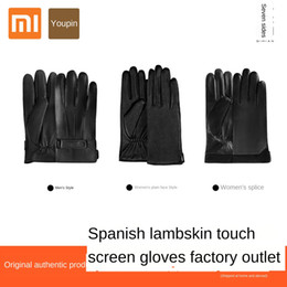 bamboo screening Canada - Xiaomi has seven-sided Spanish sheepskin touch screen AllTouch men's and women's thickened warm windproof Warm Gloves and gloves