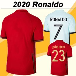 national soccer uniforms NZ - 2020 JOAO FELIX Mens Soccer Jerseys New National Team RONALDO SILVA Home Red Away White Football Shirt ANDRE GOMES Short Sleeve Uniforms