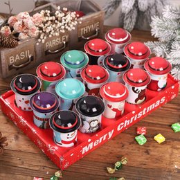 wholesale christmas gift tins Canada - Christmas Candy Tin Box Children Gift Sweets Box Party Santa Claus Snowman Xmas Candy Cans Iron Jar Favor LXL769