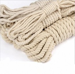 twisted rope cord UK - Beige Cotton Rope Manual Accessories Color Cotton Cords Twist Decoration Thick Beam Mouth Rope Ki32#