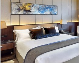 2020 hot sale Bedroom bedside hanging painting model room abstract art mural modern simple hotel decoration painting Home Deco 005 on Sale