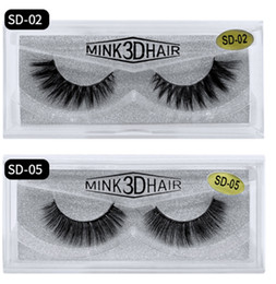 stem box UK - 15mm 3D mink lashes Bright eyes False Eyelashes Long and thick 100 Real 3D Mink Eyelash box SD series Beauty Tools Soft Natural