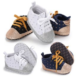 toddler girls canvas shoes Australia - New Canvas Baby Sports Sneakers Shoes Newborn Baby Boys Girls First Walkers Shoes Infant Toddler Soft Sole Anti-slip