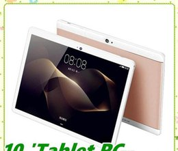 Discount dual screen tablet android High quality Octa Core 10 inch MTK6582 IPS capacitive touch screen dual sim 3G tablet phone pc android 6.0 4GB 64GB MQ10