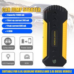 portable power bank 12v NZ - 9000mah 12V 600A 4USB Jump Starter Power Bank Portable Multifunction Car Battery Petrol Diesel Charger Starting Devices