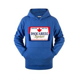 Wholesale leaf sweatshirt for sale – custom 20SS Winter Dsquàred2 maple leaves hoodies brand men women Designer sweatshirt hip hop jakets outerwear black white Luxury Pullover dsquaréd