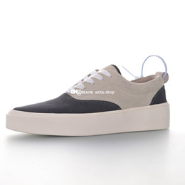 men low top sneakers NZ - Fear Of God 101 Low Top Sneaker for Men FOG Sneakers Mens Designer Skate Shoes Men's Suede Skates Shoe Man Sports Male Flats Casual