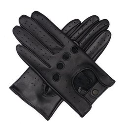 bamboo finish UK - Harssidanzar Womens Touchscreen Luxury Italian Lambskin Deerskin Leather Driving Gloves Unlined Vintage Finished