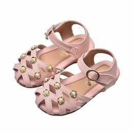 kids dress shoes boys NZ - 2020 Korean Summer Girls Sandals Soft Bottom Pearl Decorative Student Sandals Baby Princess Shoes Boys Dress Sandals Kids School Shoes ViOg#