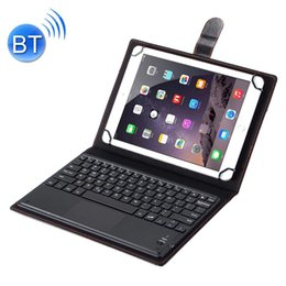 bluetooth case keyboard tablet pc 2020 - Universal Bluetooth V3.0 Keyboard Detachable Litchi Texture PU Leather Case with Touchpad for 9.7-10.1 inch Tablet PC
