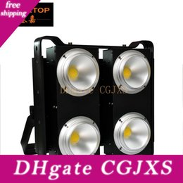 blinder stage light UK - Tiptop Four Eyes Warm White  Cold White  2in1 Warm Cold 4 Cob Stage Led Blinder Audience Light Project Angle Adjustable Temperature Sensor