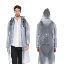 white raincoats Canada - Long Ladies Men Waterproof Raincoats Plastic Rain Coat Thick Poncho Backpack Jacket impremiable Rainwear Hiking Schoolbag 6YY178