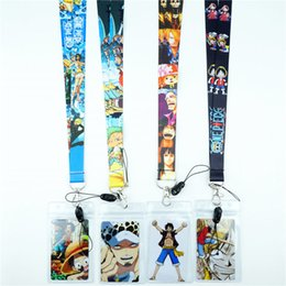 mobile phone lanyards Australia - Cartoon Japan Anime One Piece Neck Strap Lanyards ID Card Gym Mobile Phone Straps Badge Holder Rope Key Chain Cosplay Gifts