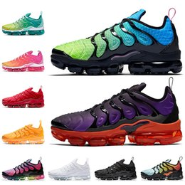 running shoes run Canada - Top Fashion Vamaxpor TN PLUS Mens shoes size 13 women running shoes Aurora Green Voltage Purple Triple White Black Red trainers sneakers