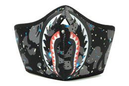 Wholesale space masks resale online - SPACE SHARK MASK camo face masks outdoor ride face masks keep warm windproof