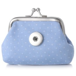 small coin purse for girls Canada - Nice Quality 18MM Snap Buttons Coin Purses Dot Spot Small Wallets Pouch Kids Girl Women's Money Holders Bags for Gift