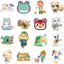 wholesale bulk crosses UK - 50pcs Lot Hotsale Animals Crossing Stickers For Kids Teens Adults Gifts Bulk Sticker For Helmet Refrigerator Bottle Car Decals