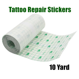 Wholesale Tattoo Bandage Roll Tattoo Repair Stickers Aftercare Supplies Skin Protective Breathable Wrap Cling Film Protect Fresh Tattoos Wound 10 Yard