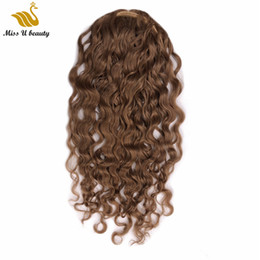 brown remy hair clips Australia - Light Brown Color Curly Ponytail Hair Extensions Drawstring Clip in Ponytail Remy Human Hair Cuticle Aligned Healthy Hair