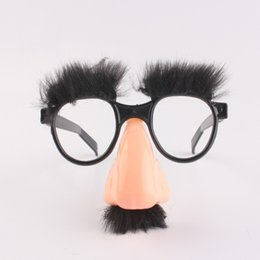 big nose UK - Halloween Big Nose Funny Glasses Big Nose Hair Eyebrow Props Halloween Mustache Cosply Props Party Trick Props