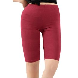 womens plus sizes leggings Australia - Womens Modal Short Leggings Basic Breathable Leggings Smooth High Elasticity Plus Size Knee Length Gym Pants Leggings For Women