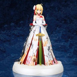 grand models NZ - Saber Fate Grand Order sexy kimono Figure anime action painted Saber model doll collectible figurine toy gift MX200727