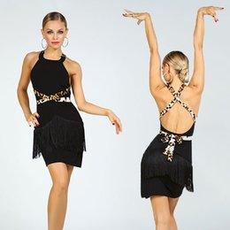 latin ballroom costumes for women NZ - 2020 Sexy Latin Dance Dress For Women Latina Stage Peformance Costume Black Salsa Practice Dance Wear Ballroom Dresses JL1077