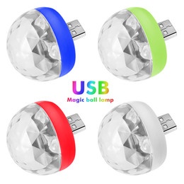 magic ball disco NZ - Mini USB LED Disco Stage Light Portable Family Party Magic Ball Colorful Light Bar Club Stage Effect Lamp for Mobile Phone