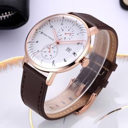 leather strap watch white men UK - MINIFOCUS Mens Watches Top Leather Strap Quartz Watch Men 2020 Date Analog Fashion Wrist Watch For Men Clock Casual