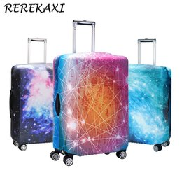 trunk case luggage Canada - Suitcase 3D Star Sky Case Cover Luggage Elastic Protective Covers 18-32Inch Baggage Trolley Trunk Dust Cover Travel Accessories T200710