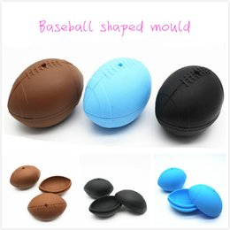 football chocolate UK - Baseball Shaped Silicone Mould Ball Molds ECO Cake Mold Ice Football Chocolate Mould Cake Maker DIY Cooking Baking Tools DHL