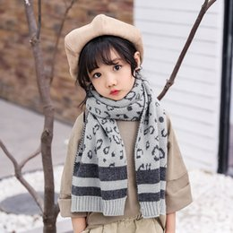 korean boys scarfs Canada - gPVJy New children's knitted Korean style cashmere leopard pattern jacquard scarf for boys and girls dual-purpose double-sided warm Warm Sca