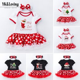 outlet clothes NZ - New Baby Girls High-quality Cotton Christmas Dot Short-Sleeved Romper Dress Two-Piece Girls Childrens Clothing Factory Outlet