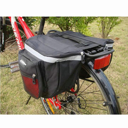 bicycle panniers rear Canada - New Mountain Bicycle Carrier Bag 25L Rear Rack Trunk Bike Luggage Back Seat Pannier Two Double Bags Sport Cycling Saddle Storage MX200717