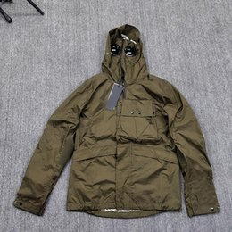 Wholesale army style jackets for sale – winter Stone Pirates island ss Men s thin multifunctional jacket with goggles and Multi Pocket functional style coat