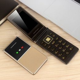 dual sim cellphone russian NZ - Unlocked Extra Slim Light Old Man Flip Cellphone Dual Large Display Fast Dial Large Key Black List Dual Sim Card Folder Senior Mobile Phone