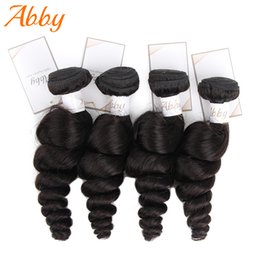hair weave hairstyles NZ - Mongolian Loose Wave Bundles 100% Human Hair Weave Bundles ABBY Hair 1 3 4 Hair Bundles Extensions Summer Hairstyle