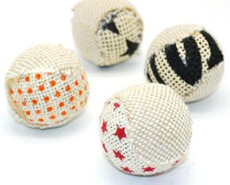 pack plays Canada - 4pcs pack Ball Cat Toy Interactive Cat Toys Play Chewing Rattle Scratch Catch Pet Kitten Cat Exercise Toy Balls