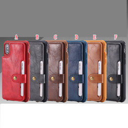 iphone multifunction case 5s Australia - With Card Slot Multifunction Leather Case For Iphone 11 PRO MAX X XS XR SE 2020 8 7 PLUS 6 6S 5 5S Stand Strap Hybrid Retro Phone Back Cover