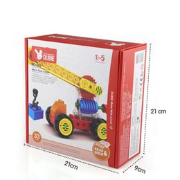 gear toys for kids NZ - 33pcs Baby toys Worm gear crane DIY kids educational toys big particle building block creative intelligent gifts for children