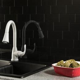 Tile Peel e vara parede de vidro adesivo self Banho Cozinha Backsplash Preto em Promoção
