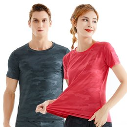 polyester athletic t shirts Australia - kYK97 Summer camouflage quick dry short-sleeved men's ATHLETIC T-SHIRT women's kuai gan yi outdoor sports t-shirt outdoor sports fitness run
