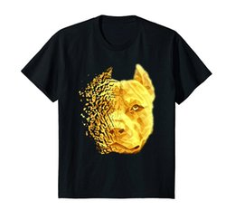 pit crew shirts Canada - 2020 Hot Sale Cotton 100% Fashion Pit Bull Shattered Gold Designer T-Shirt Tee Shirt