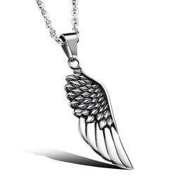 rose cross pendant silver Australia - New Fashion Angel Wings Pendants Round Cross Chain Short Long Mens Womens Silver Color Necklace Jewelry Gift