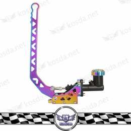 racing gear lever Canada - Racing Parking Handbrake Lever Gear Neo chrome Aluminum Hydraulic Drift Hand Brake Type-10 CrBV#