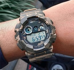 white mens digital watches Australia - Factory Wholesale Price Sport Mens Watches G Style Shock Wristwatch Fashion Camouflage Red Multifunction LED Digital Dual Display Watch Gift