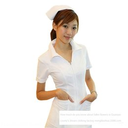 nursing underwear UK - Sexy underwear coat laboratory stage performance nurse gown white gown Underwear white coat uniform sexy uniform 1087