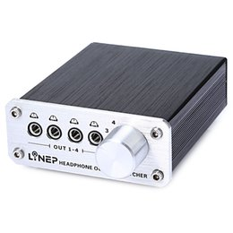 audio digital output Australia - A985 Digital Audio Signal Switch 4 Input 4 Output Earphone Headphone Headset Transmission Switch 3.5mm Multi-Channel