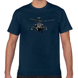 helicopter military UK - Tops T Shirt Men apache us military helicopter Funny Harajuku Geek Short Male Tshirt XXX