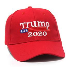 США СТОК! Trump 2020 Keep America Great 2 Стили вышивки хлопка Регулируемые дышащий Hat бейсболке Открытый Женщины Мужчины Caps FY6064 на Распродаже